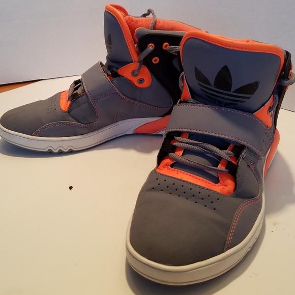 e7f8c5d864 Adidas Hi Top Boys Sneakers Orange Gray